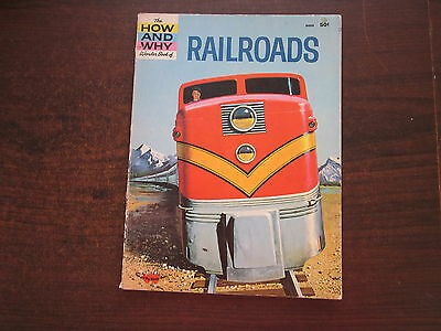 THE HOW AND WHY WONDER BOOK OF RAILROADS Train Vintage 1964 School Reference SC