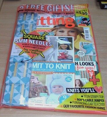Simply Knitting magazine #160 2017 + Square 5mm Needles & Charity Book