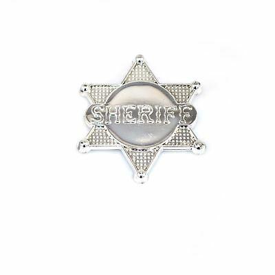 1pcs Silver Sheriff Badge County Police Badge Party Accessories