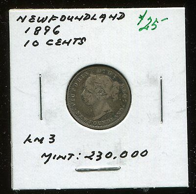 ** Newfoundland 1896 , 10 Cents ....scarce Minted 230 .k  **