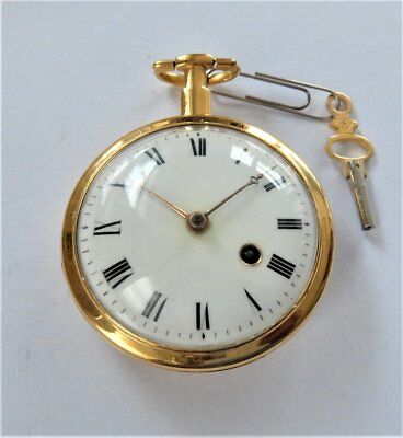 1820 Gilt Consulate Cased Verge Fusee Pocket Watch Green & Ward London Working