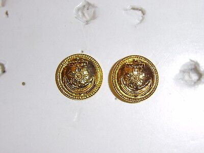 b1118p WW2 Japan Japanese Navy EM & NCO buttons Field Cap chin strap pair R17B