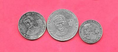 Ecuador 3 Diff Different 2000 Coin Lot Collection Set Group W Large