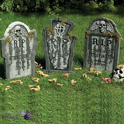 Gravestone Tombstone Graveyard Ground Stake Party Prop Halloween Decoration 56cm