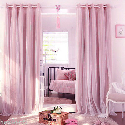 1PC Blackout Soft Room Darkening Curtains Window Panel Drapes Home Decor BM