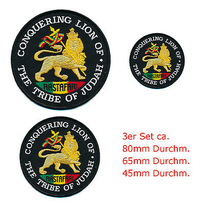 3 the Lion of Judah .... the tribe of judah Patches Aufnäher Aufbügler 0665