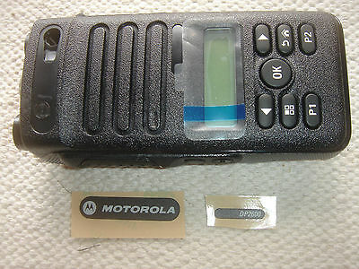 NEW GENUINE MOTOROLA PMLN5809A DP2600 HOUSING WITH 2 x NAMEPLATE LABELS