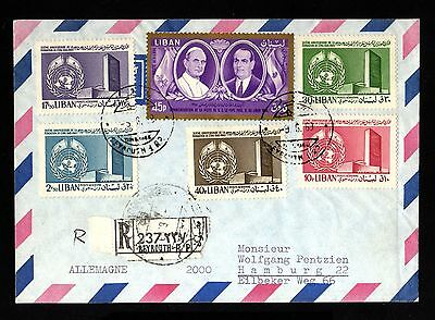 16355-LEBANON-AIRMAIL REGISTERED COVER BEYROUTH to HAMBURG (germany) 1969.Liban