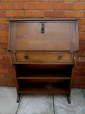 Oak Writing Bureau / Bookcase