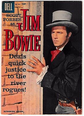 FOUR COLOR #893 JIM BOWIE (FN) TV Classic Comic 1958 Dell Photo Cover