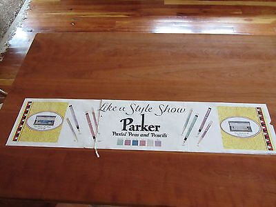 Parker Pastel Pens and Pencils advertising poster