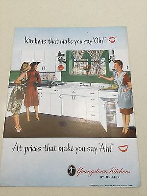 YOUNGSTOWN KITCHENS by MULLINS 20 pgs ADVERTISING Brochure CABINETS Galore! 1947