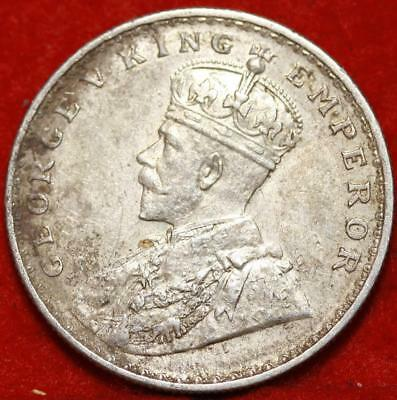 1918 India Rupee Silver Foreign Coin Free S/H