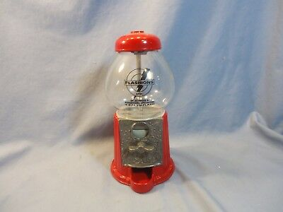 Vintage 1985 Red Carousel Gumball Ford Gum & Machine Co Akron NY Glass Globe