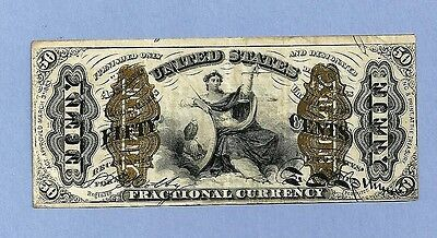 FR 1368 - 50 Cents Justice Fractional Currency Extra Fine SCARCE Note