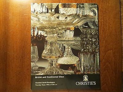 1996 CHRISTIE'S AUCTION  British and Continental Glass
