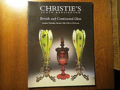 1996 CHRISTIE'S AUCTION  British and Continental Glass #2
