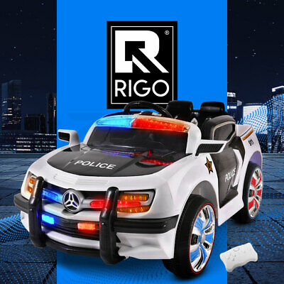 RIGO Kids Ride-On Car Ford Style Police Electric Toys Remote Control Music 12V