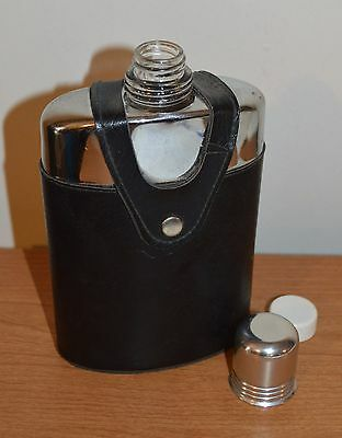 Glass Flask with Leather Case
