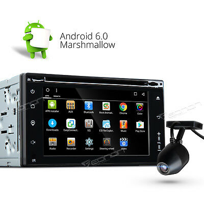 USB Dashcam + Double 2Din Android 6.0 Car Radio GPS 3G CD MP3 Player Bluetooth F