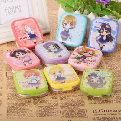 1pc Love Live Characters  Contact Lens Box Case Japanese Anime Love Live