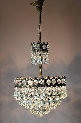 Classic Old Pendant Antique French Vintage Crystal Chandelier Lamp Home Lighting