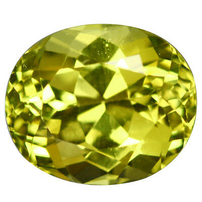 4.52Ct Mesmerizing Oval Cut 10 x 9 mm Natural Rare Greenish Yellow Apatite