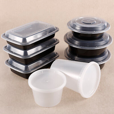 Microwave Take Out To-Go Container Plastic Disposable BPA Free Crisper Lunch Box