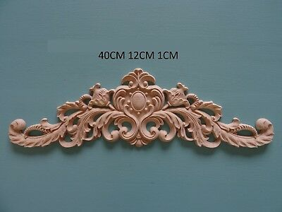 Decorative wooden large center appliques furniture mouldings onlay applique W48