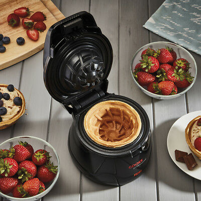 Cooks Professional Quick & Easy to Clean 600w Non-Stick Waffle Bowl Maker