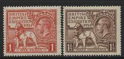 1924 Wembley Set Of Two Unmounted Mint. Sg 430-1