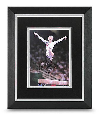 Shannon Miller Signed 10x8 Photo Display Framed Olympic Gymnast Autograph + COA