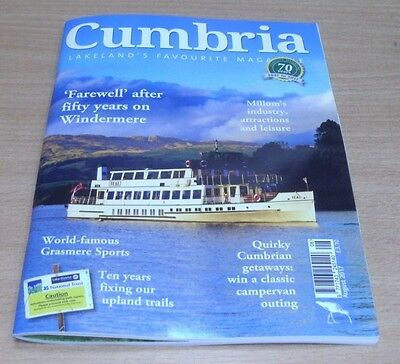 Cumbria Monthly magazine Aug 2017 Millom + Windermere steamship & more