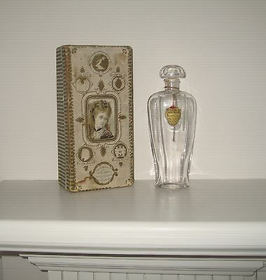 Antique Perfume Bottle in Ancient Box