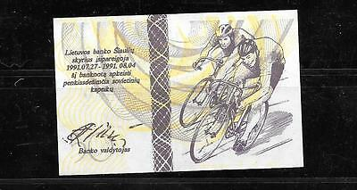 Lithuania OLYMPIC Banknote 50 Centauru Cyclists 1991 UNC PAPER MONEY CURRENCY