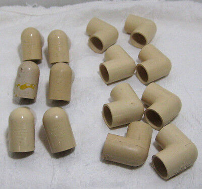 """Lot of 14 PVC Elbows 1"""" CPVC-4120 ASTM D-2846 New Old Stock Plumbing 90 Degree"""