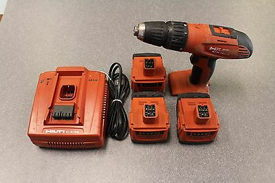 Hilti SFH 144-A CORDLESS HAMMER DRILL/DRIVER -- 3 Battery + Charger