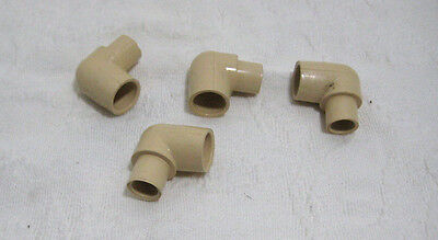 """Lot of 4 CPVC-4120 Reducing Elbow 3/4"""" x 1/2"""" Ninety Degree Elbow Irrigation"""