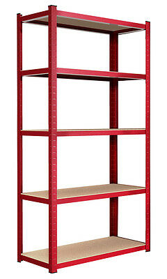 Heavy Duty 5 Tier Boltless Metal Shelving Steel Industrial Shelves Storage