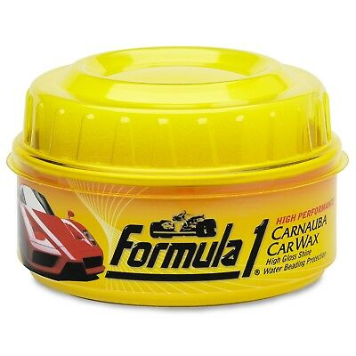 Formula 1 CARNAUBA WAX Car High Gloss Shine Polish No Water Beading Scratch 340g
