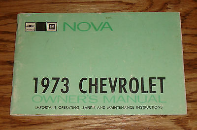 Original 1973 Chevrolet Nova Owners Operators Manual 73 Chevy