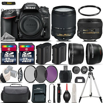 Nikon D7200 Digital SLR Camera + 18-140mm VR + 50mm 1.4G Lens + 64GB -4 Lens Kit