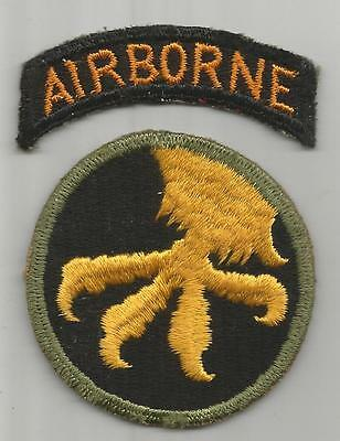 WW 2 US Army 17th Airborne Division Patch & Tab Inv# K099