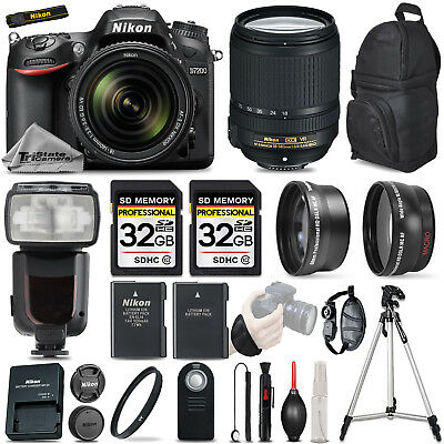 Nikon D7200 Digital SLR Camera 3 lens: 18-140mm VR + 64GB + Ultra Saving Kit