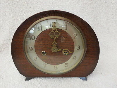 Vintage Smiths Bideford Striking Mantel Clock For Spares Or Repair