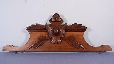 "32"" French Antique Pediment, Crown or Wood Crest"