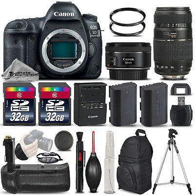 Canon EOS 5D Mark IV DSLR Camera + 50mm 1.8 STM + 70-300 + BATT GRIP - 64GB KIT