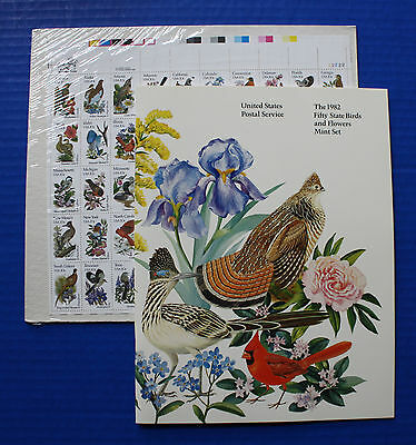 United States (#1953-2002) 1982 State Birds & Flowers MNH full sheet + book