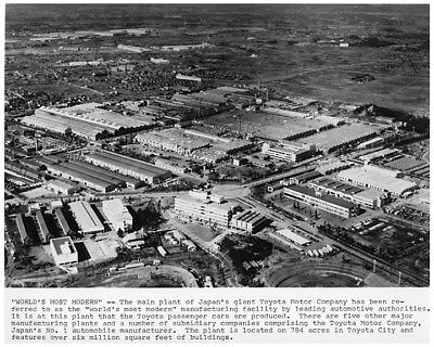 1967 Toyota Manufacturing Plant Factory Photo ca8211
