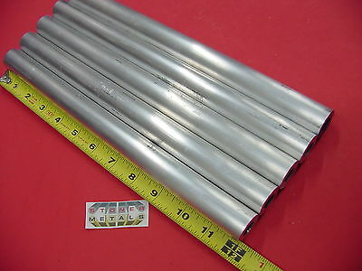 "5 Pieces 1"" OD x 1/4"" Wall 6061 T6 ALUMINUM Round Tube 12"" long 1/2"" ID Seamless"